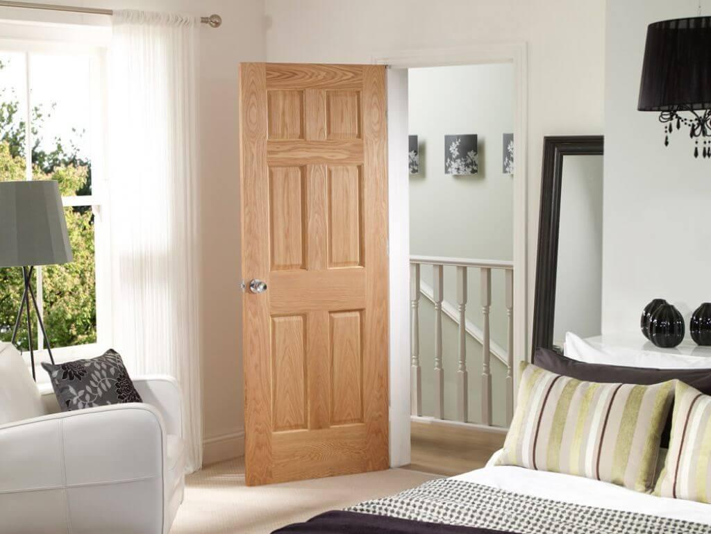 распашная межкомнатная дверь в спальню