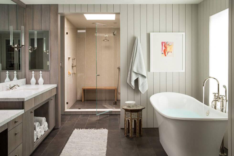 Обшивка стен ванной МДФ-панелями