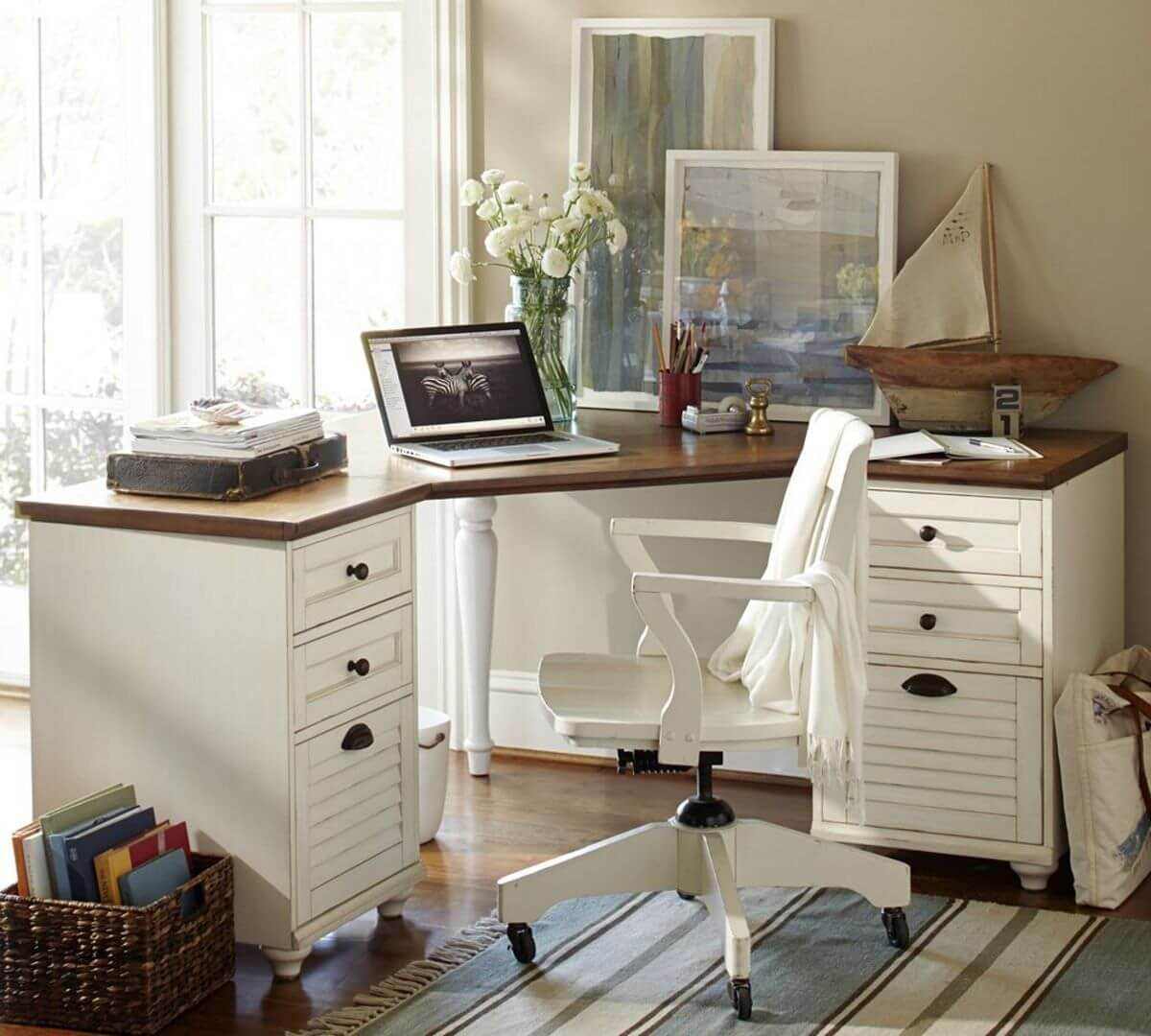 компьютерный стол угловой для офиса фото