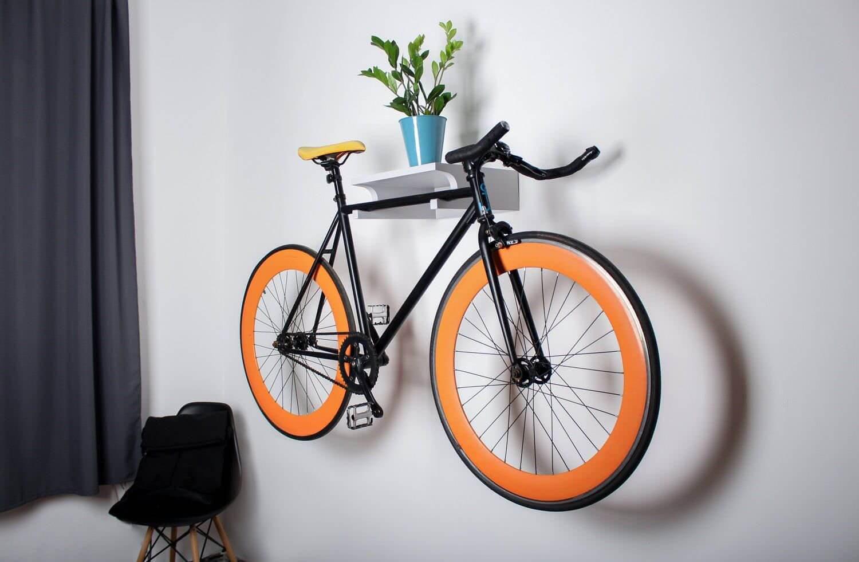полка для подвешивания велосипеда в квартире