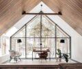 Панорамные окна в загородном доме: 15 красивых идей оформления